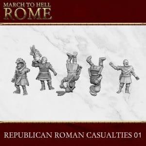 REPUBLICAN ROMAN CASUALTIES 01 3d printed miniatures
