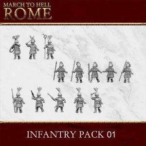 ROMAN REPUBLIC INFANTRY PACK 01 3d printed miniatures
