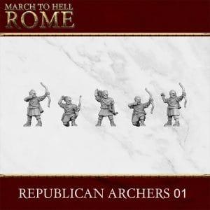 ROMAN REPUBLIC ARCHERS 01 3d printed miniatures