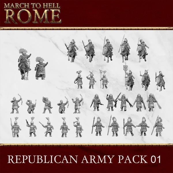 ROMAN REPUBLIC ARMY PACK 01 3d printed miniatures