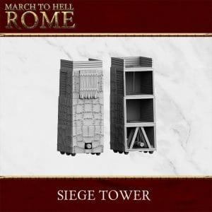SIEGE TOWER roman 3d printed