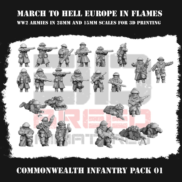 CW INFANTRY PACK 01 3dbreed miniatures