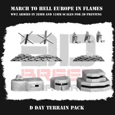German Army (Wehrmacht) D DAY TERRAIN PACK